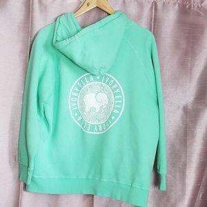 Ivory Ella Oversized Mint Green Zip up Hoodie M